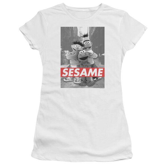 Sesame Street Sesame Hbo Short Sleeve Junior Sheer T-Shirt