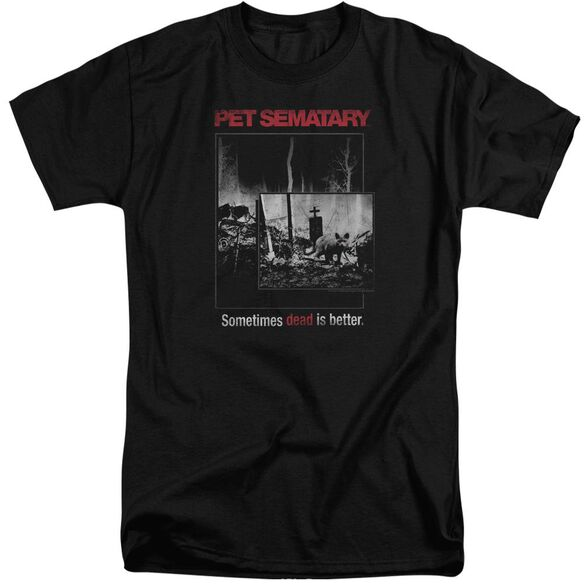 Pet Semetary Cat Poster Short Sleeve Adult Tall T-Shirt