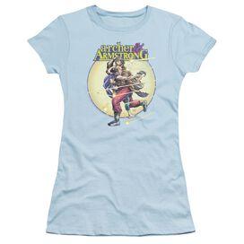 Archer & Armstrong Vintage A & A Short Sleeve Junior Sheer Light T-Shirt