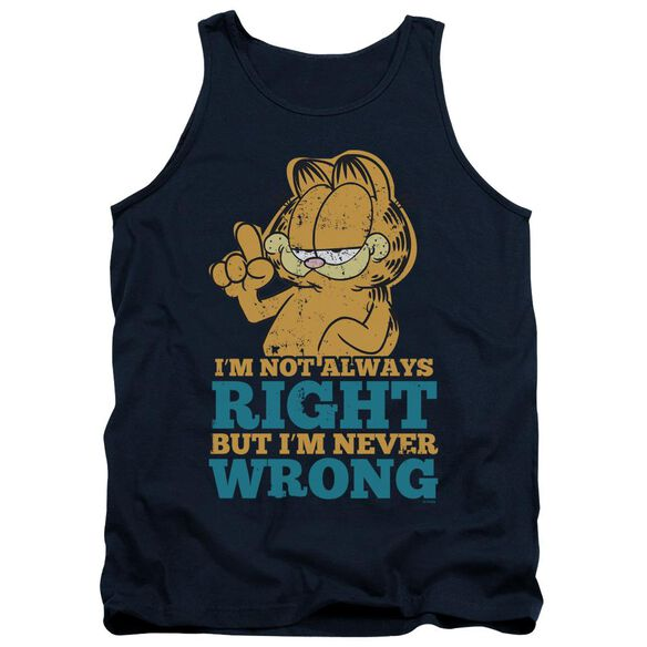 Garfield Never Wrong Adult Tank