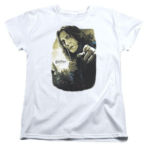Harry Potter Snape Poster Short Sleeve Womens Tee White T-Shirt