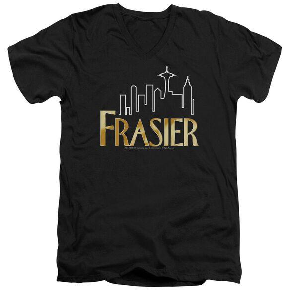 Frasier Frasier Logo Short Sleeve Adult V Neck T-Shirt
