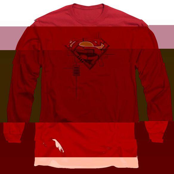 SUPERMAN SUPER MECH SHIELD-L/S T-Shirt