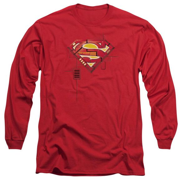 Superman Super Mech Shield Long Sleeve Adult T-Shirt