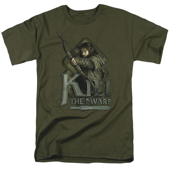 The Hobbit Kili Short Sleeve Adult Military Green T-Shirt