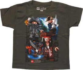 Pirates of Caribbean Lego Captains Juvenile Shirt