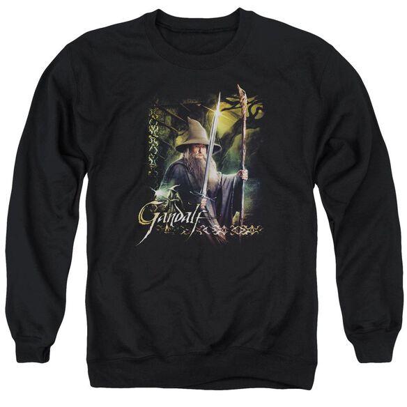 Hobbit Sword And Staff Adult Crewneck Sweatshirt