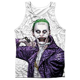 Suicide Squad Across The Throat Adult Poly Tank Top
