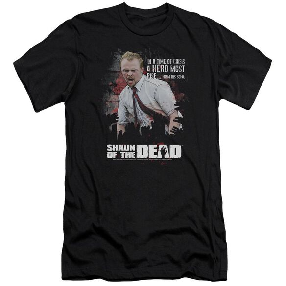 Shaun Of The Dead Hero Must Rise Premuim Canvas Adult Slim Fit