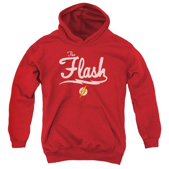 Jla Old School Flash Youth Pull Over Hoodie