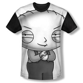 Family Guy Stewie Head Short Sleeve Youth Front Black Back T-Shirt