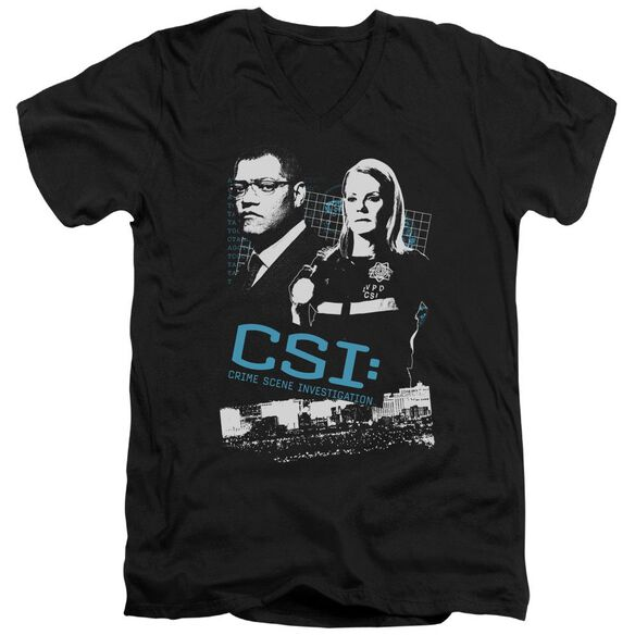 Csi Investigate This Short Sleeve Adult V Neck T-Shirt