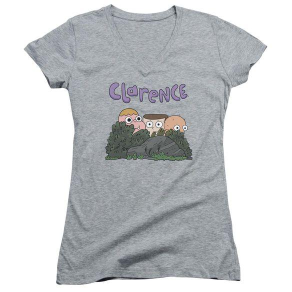 Clarence Gang Junior V Neck Athletic T-Shirt