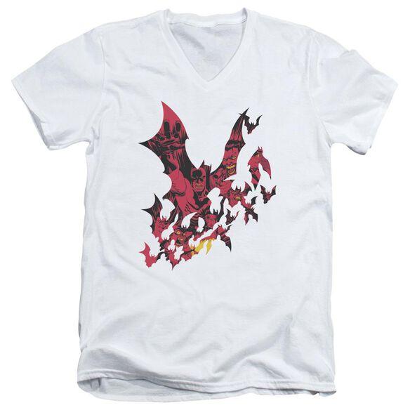 BATMAN BROKEN CITY - S/S ADULT V-NECK - WHITE T-Shirt
