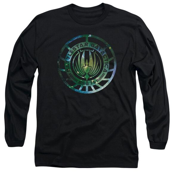 Battlestar Galactica (New) Galaxy Emblem Long Sleeve Adult T-Shirt