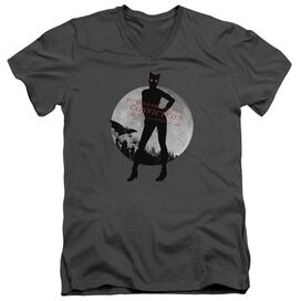 Arkham City Catwoman Convicted Short Sleeve Adult V Neck T-Shirt