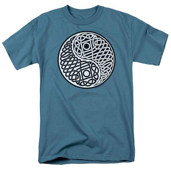 Celtic Ying Yang Short Sleeve Adult Slate T-Shirt