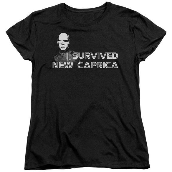 Bsg I Survived New Caprica Short Sleeve Womens Tee T-Shirt