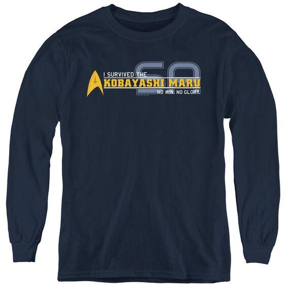 Star Trek I Survived - Youth Long Sleeve Tee - Navy