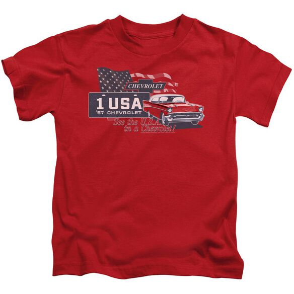 Chevrolet See The Usa Short Sleeve Juvenile Red T-Shirt