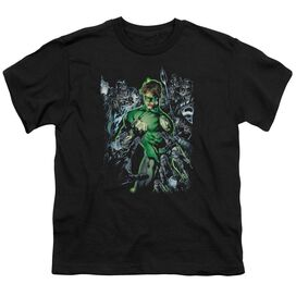 GREEN LANTERN SURROUNDED BY DEATH - S/S YOUTH 18/1 - BLACK T-Shirt