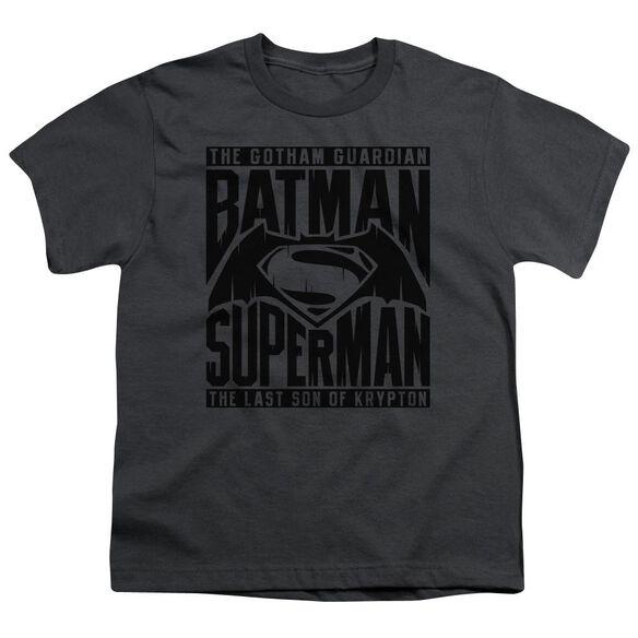 Batman V Superman Title Fight Short Sleeve Youth T-Shirt