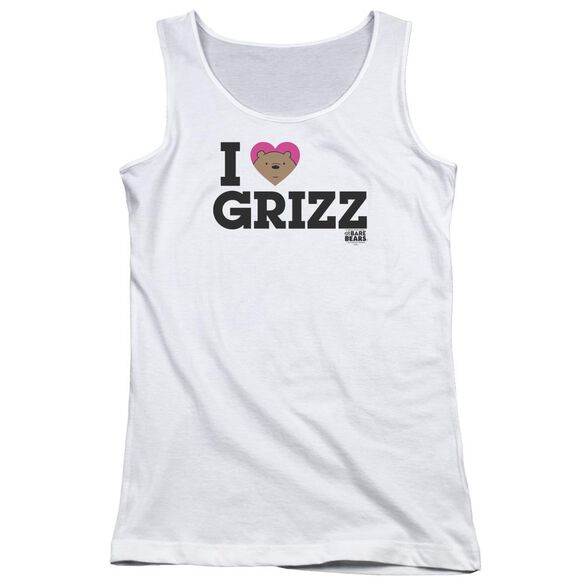 We Bare Bears Heart Grizz Juniors Tank Top