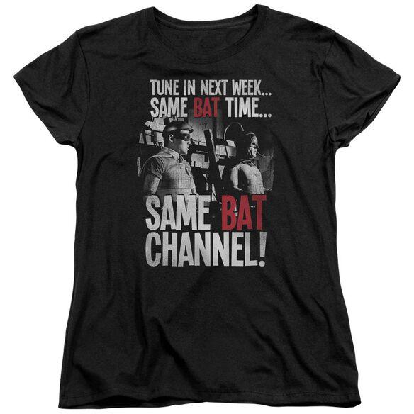 Batman Classic Tv Bat Channel Short Sleeve Womens Tee T-Shirt