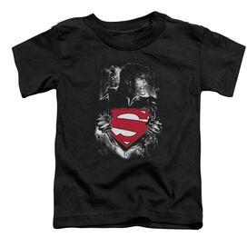 SUPERMAN DARKEST HOUR - S/S TODDLER TEE - BLACK - T-Shirt