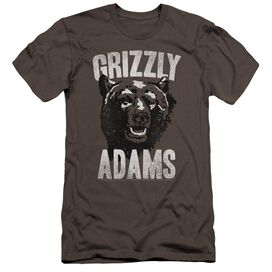 Grizzly Adams Retro Bear Premuim Canvas Adult Slim Fit