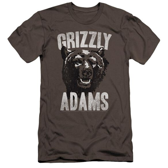 Grizzly Adams Retro Bear Premuim Canvas Adult Slim Fit