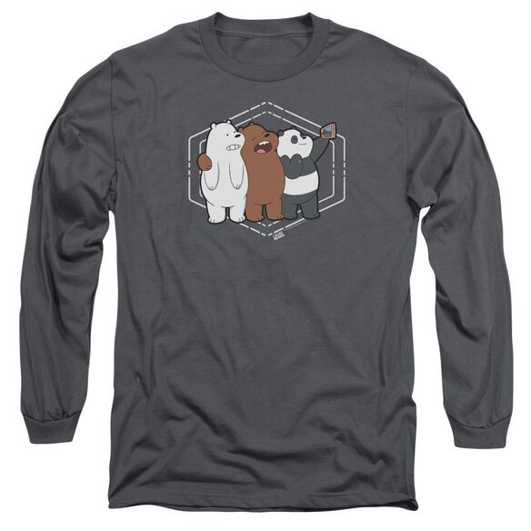We Bare Bears Selfie Long Sleeve Adult T-Shirt