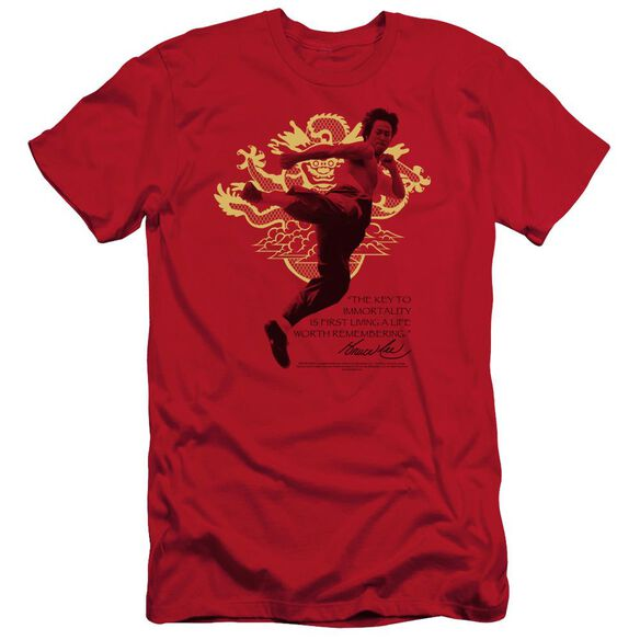 Bruce Lee Immortal Dragon Short Sleeve Adult T-Shirt