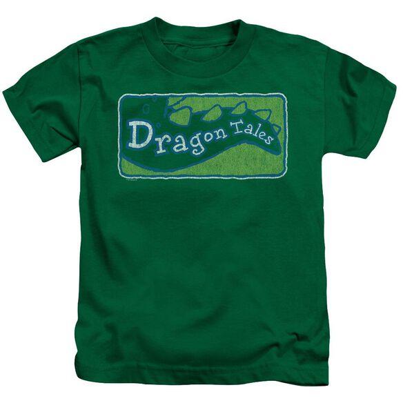 Dragon Tales Logo Distressed Short Sleeve Juvenile Kelly T-Shirt