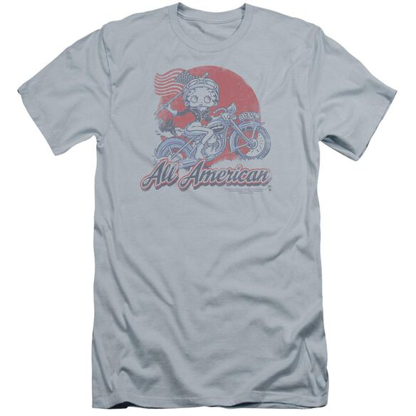 Betty Boop All American Biker Premuim Canvas Adult Slim Fit Light