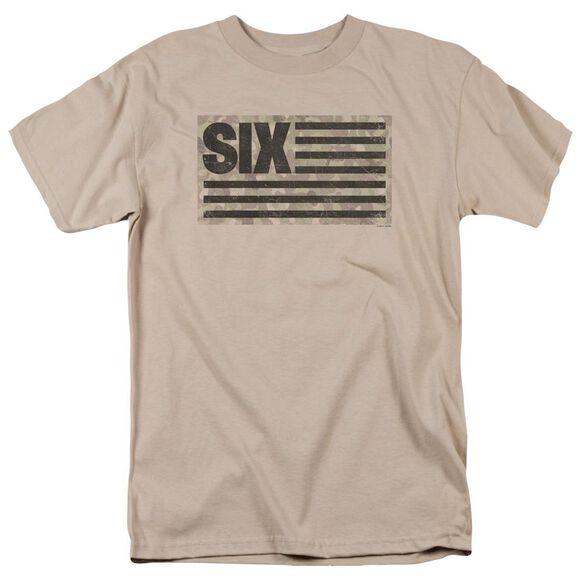 Six Six Camo Flag Short Sleeve Adult Sand T-Shirt