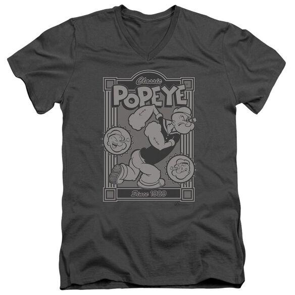 Popeye Classic Popeye Short Sleeve Adult V Neck T-Shirt