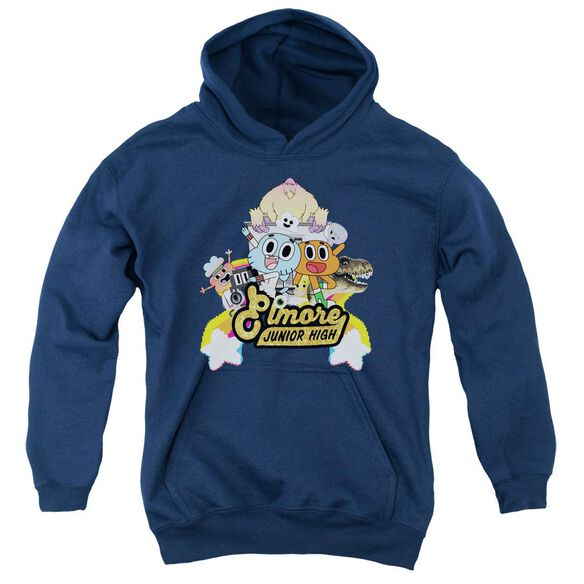 Amazing World Of Gumball Elmore Junior High Youth Pull Over Hoodie