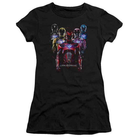 Power Rangers Team Of Rangers Short Sleeve Junior Sheer T-Shirt