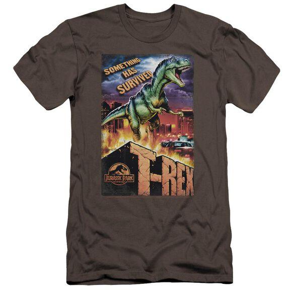 Jurassic Park Rex In The City Premuim Canvas Adult Slim Fit