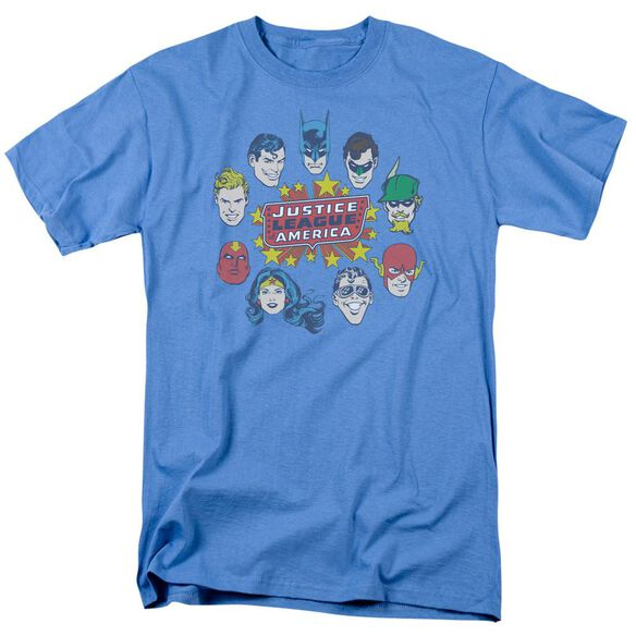 Dc Justice Head Circle Short Sleeve Adult Carolina T-Shirt