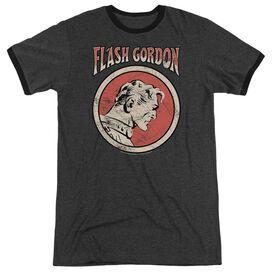 Flash Gordon Flash Circle Adult Heather Ringer Charcoal