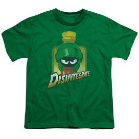 Looney Tunes Disintegrate Short Sleeve Youth Kelly T-Shirt