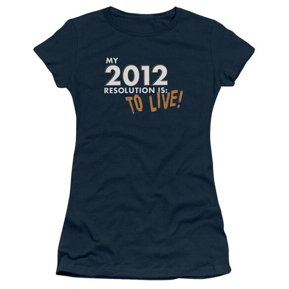To Live! Short Sleeve Junior Sheer T-Shirt