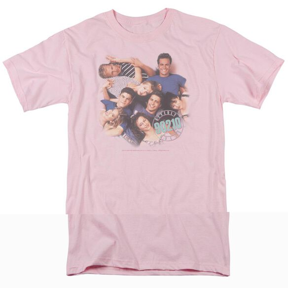 90210 GANG IN LOGO-S/S ADULT 18/1 - PINK T-Shirt