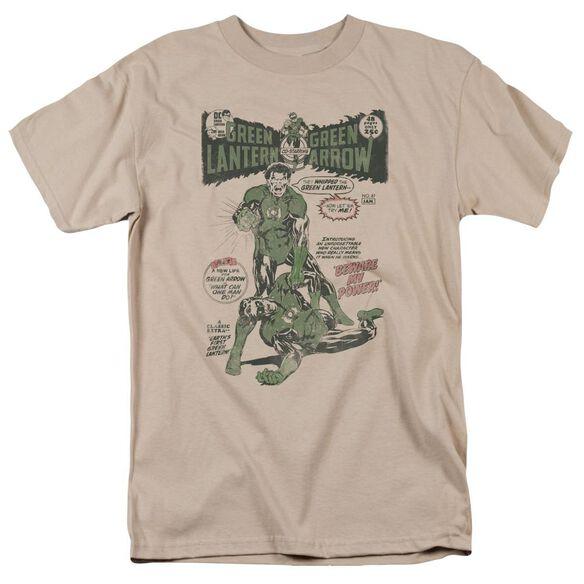 Green Lantern Beware My Power Short Sleeve Adult Sand T-Shirt