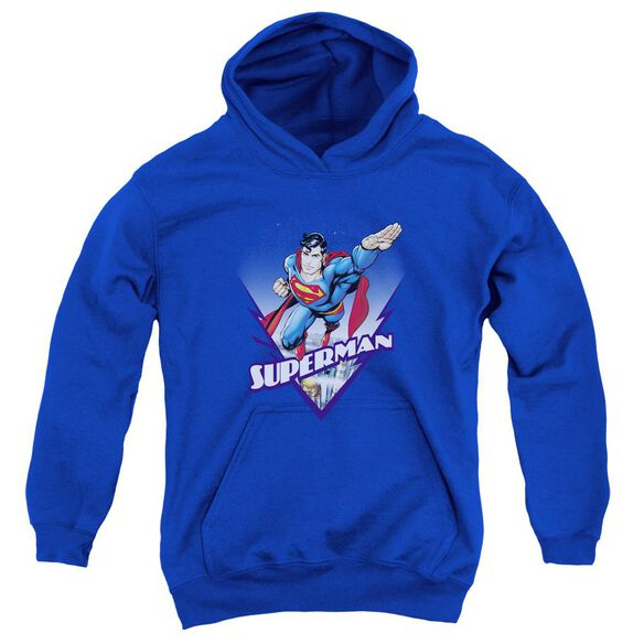 Superman Looks Like A Job For Youth Pull Over Hoodie