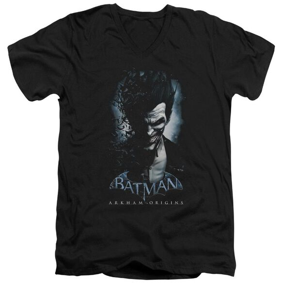 Batman Arkham Origins Joker Short Sleeve Adult V Neck T-Shirt