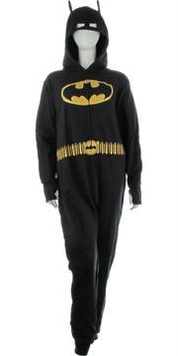 Batman with Belt Costume Hooded Union Suit