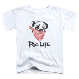 Pug Life Short Sleeve Toddler Tee White Md T-Shirt